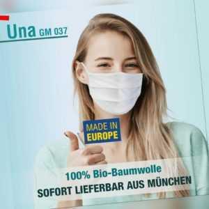 Gesichtsmaske Una GM 037 waschbar wiederverwendbar Mundschutz Hygienemaske