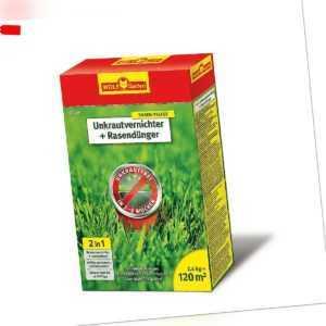 WOLF - Rasendünger mit Unkrautvernichter 2,4kg für 120qm - SQ120 Löwenzahn Klee