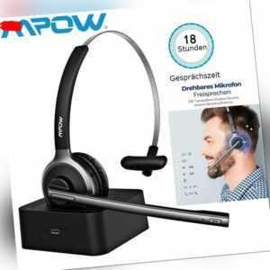Mpow Bluetooth Headset Kabellos Kopfhörer mit Mikrofon Ladestation Freisprechen