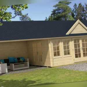 Tuindeco Gartenhaus Blockhütte BIG BEN (Hausmaß 550 x 400) 400 x 930 / 70mm