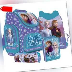 Frozen II Anna Elsa Schulranzen Tornister Ranzen Rucksack Set mit Federtasche