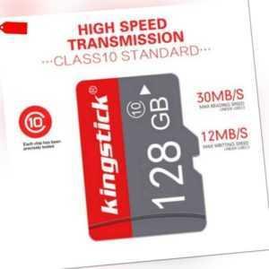 128GB TF-Karte-U3 Micro-Klasse 10 High-Speed-Speicher für Handy Kamera Tablet DE