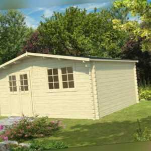 34 mm Gartenhaus 500x400 cm Gerätehaus Blockhaus Holz Holzhaus Holzhütte Neu