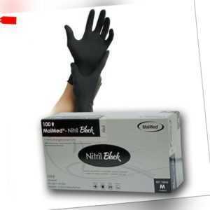 100 Stück MaiMed Nitril Black Nitrilhandschuhe Einweghandschuhe Größe L