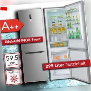Kühl Gefrierkombination 188cm A++ NoFrost Kühlschrank freistehend...