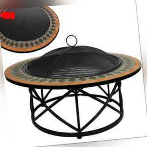 Feuerschale Feuerkorb Mosaik Gartenfeuer Grill Feuerstelle Terrassenfeuer Ø 76cm