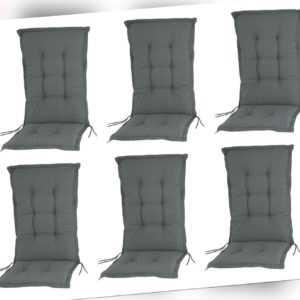 6x Hochlehner Auflagen 8cm für Gartenstuhl Stühle Sessel Kissen Sitz Polster Set