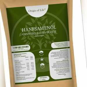 HANFSAMENÖL 500 Softgel Kapseln á 1000mg - nativ - pflanzliche Omega 3 + 6 ALA