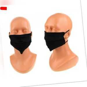 5 x  Mundschutz Maske Gesichtsmaske Schutzmaske Atemschutz.Baumwolle schwarz