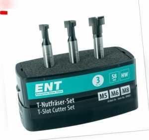 ENT 09003 3-tlg. HW T-Nutfräser-Set für M5, M6 und M8 Sechskantschrauben
