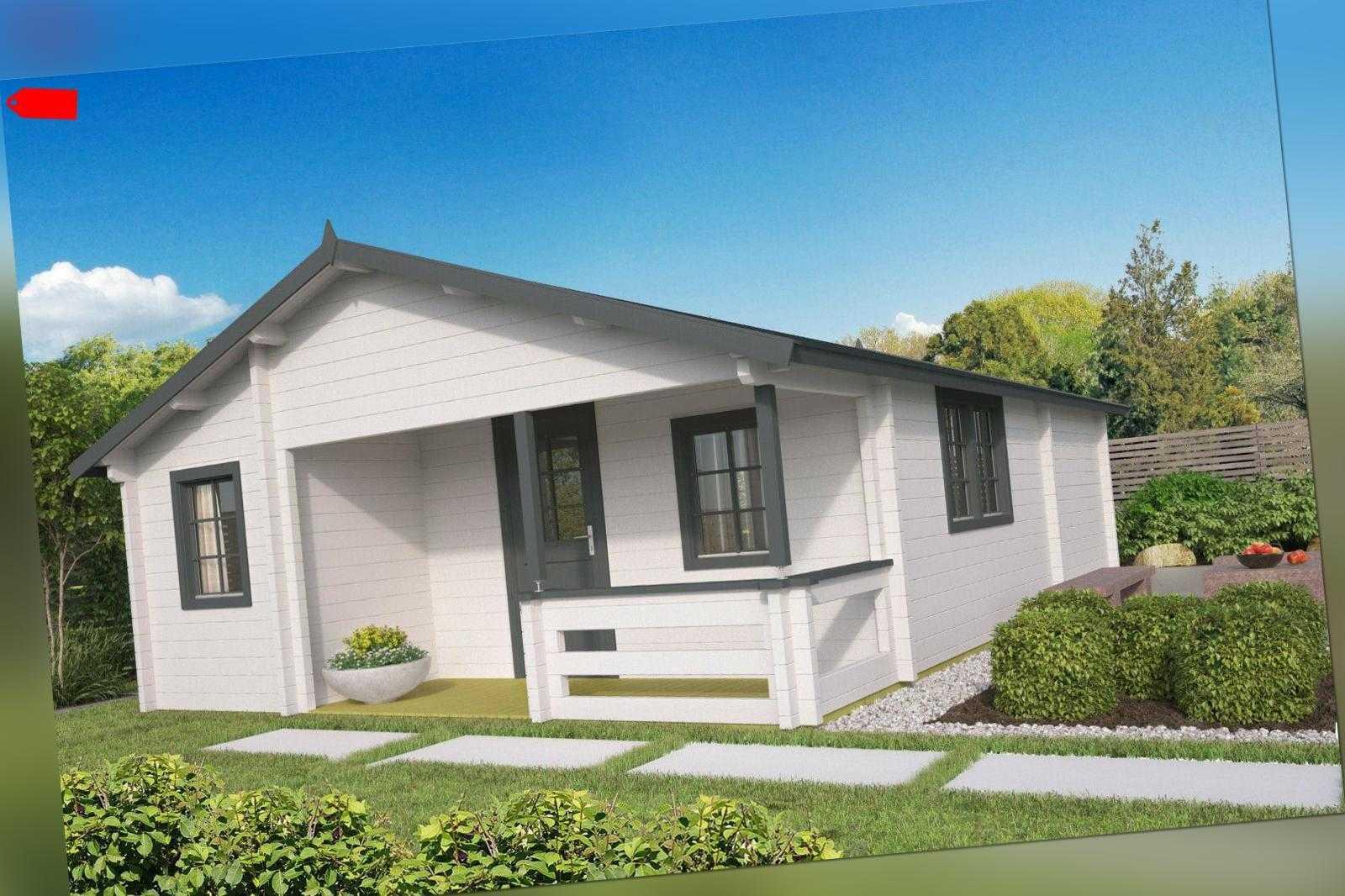 70 mm Ferienhaus 595x800 cm Gartenhaus Blockhütte Blockhaus Holzhaus Hütte Holz