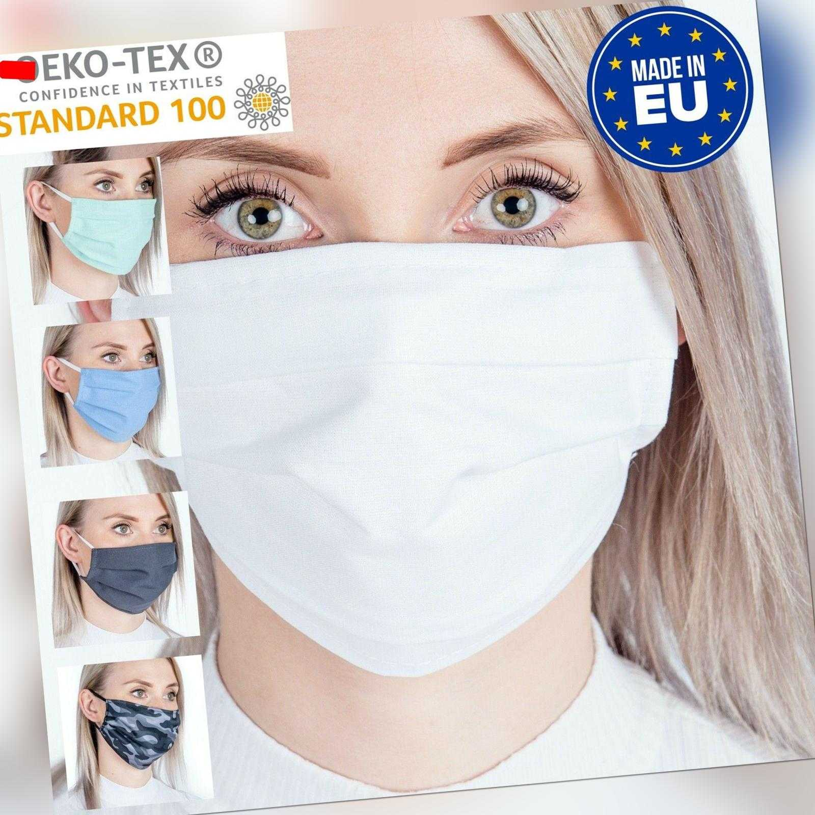 Mundmaske waschbar Stoffmaske Gesichtmaske Nasenmaske Mundbedeckung Baumwolle