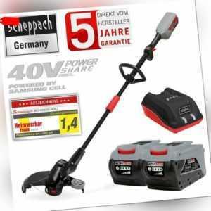 scheppach 2in1 40V Akku Rasentrimmer BCH3300-40Li + 2x Akku & 1x Ladegerät Set