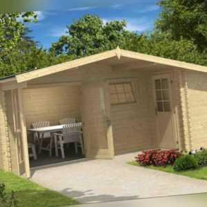 34mm Gartenhaus 530x450 cm 2 RÄUME Gerätehaus Schuppen Holzhaus Holzhütte Holz