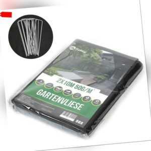 2mx10m 50g/m² Bodengewebe Paddockplatten Gartenflies Unkrautvlies UV 10 Erdanker