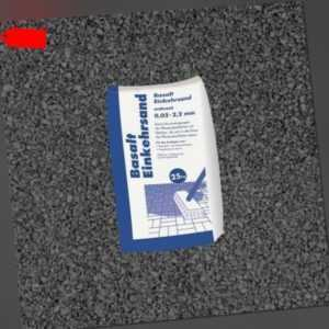 (0,57€/1kg) 25 kg Sack Basalt Einkehrsand Anthrazit 0,02-2,2 mm Fugen Sand