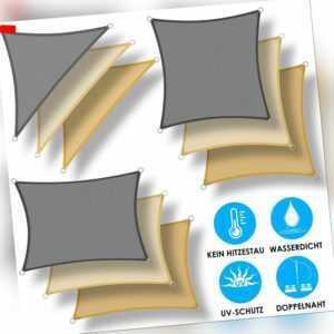 KESSER® Sonnensegel Sonnenschutz Windschutz UV-Schutz Dreieck Rechteck PES