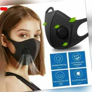 Wiederverwendbar Gesichtsmaske Atemschutz Mundschutz Staub Waschbar Anti-Fog