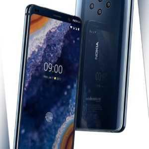"Nokia 9 PureView DualSim blau 128GB LTE Android Smartphone 5,99""..."