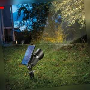 Solar Strahler Superspot warm + kaltweiß Solarleuchte LED Garten, esotec 102546