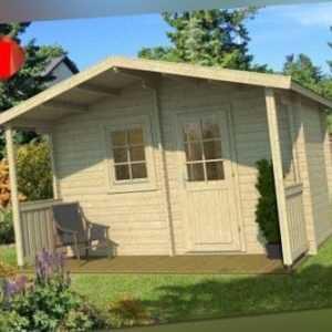 Tene Saunahaus Hannu 400 x 220cm Gartenhaus Sauna Gartensauna Datsche Gerätehaus