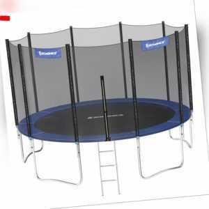 SONGMICS Trampolin Ø 366 cm rundes Gartentrampolin mit Sicherheitsnetz STR124