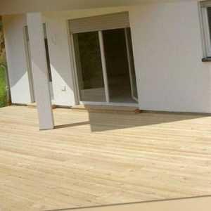 sibirische Lärche KOMPLETTSET 3m / 4m / 5,10m Terrassendielen Holz Diele Bausatz