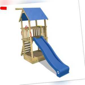 WICKEY Spielturm Klettergerüst Smart Tale Kinder Holz Rutsche großer Sandkasten