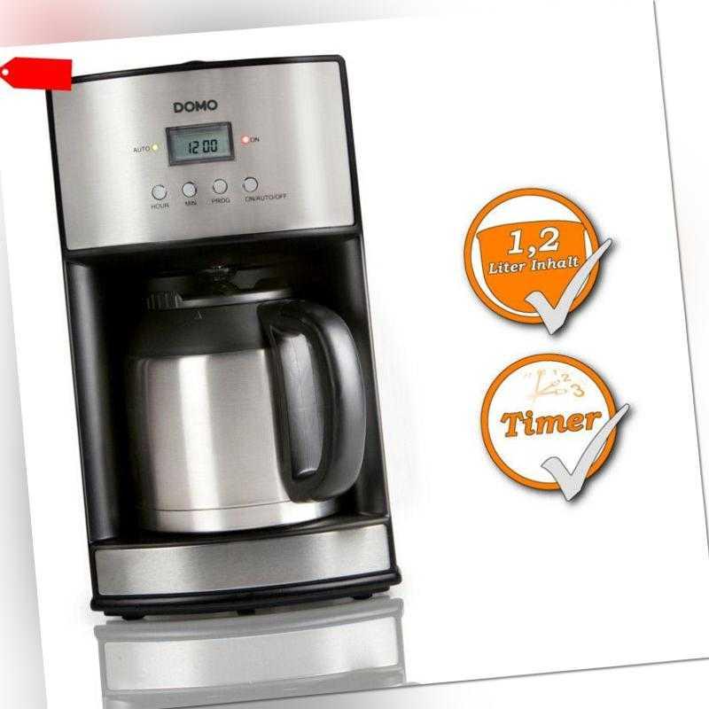 Kaffeemaschine 24 Std.-Timer 1,2L Thermoskanne Kaffeeautomat 10...