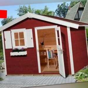 Weka Gartenhaus Gerätehaus 123 Gr.3 schwedenrot 300x205 cm