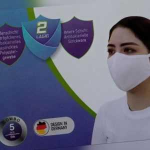 3x Behelfsmasken Mundbedeckungen Gesicht Nasenmasken Community Masken waschbar