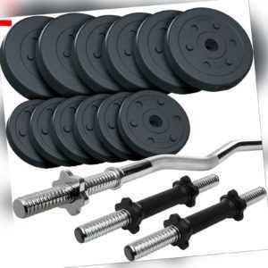 ScSPORTS® Hantelset 35,5 kg Hantel Kurzhantel SZ Stange Gewichte Hantelscheiben