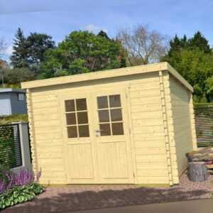 Topgarden Gartenhaus JONTE PLUS ISO 312x312 cm, 44mm Doppelnut, ohne Boden