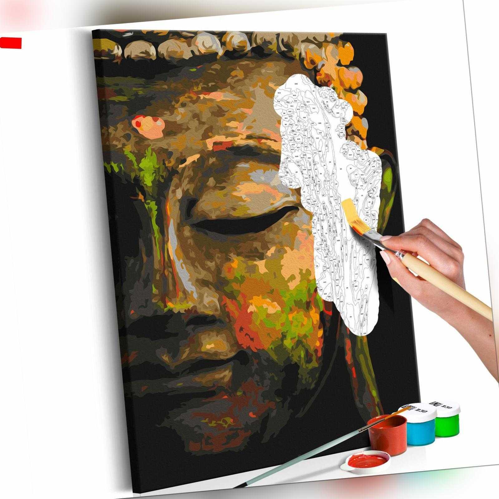 Malset mit Holzrahmen 40x60 Leinwand Erwachsene Gemälde Kit DIY n-A-0568-d-a