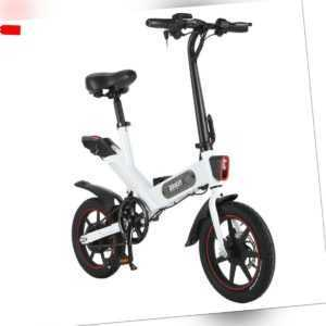 "14"" Elektrofahrrad Klapprad E-Bike Mountainbike Pedelec Faltbar Li-Akku Fahrrad"