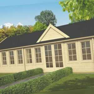 70 mm Ferienhaus ISO + Fußboden 930x400 cm Gartenhaus Blockhaus Holzhaus Holz