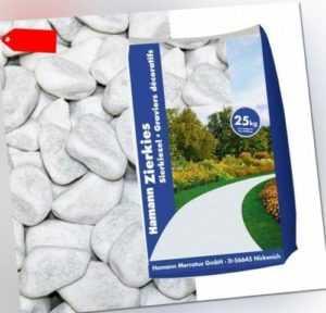 (0,48€/1kg) Marmorkies Carrara weiss 40-60mm 25kg Sack