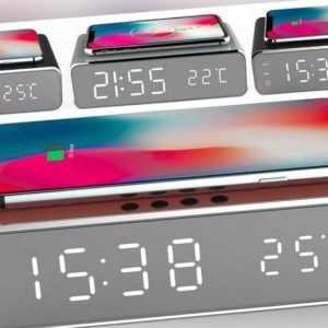 Wireless Charger Uhrenwecker Smartphone Kabelloses Aufladen Handy Uhren Wecker