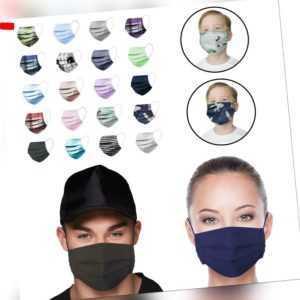 Behelfsmundschutz Atem Mund und Nasen Maske 100% Baumwolle Waschbar Öko Tex Neu