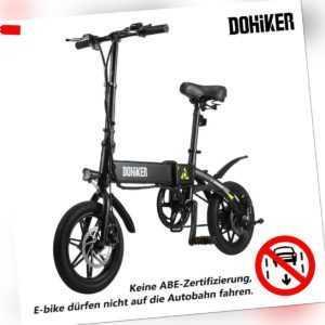 DOHIKER Elektrofahrrad Faltbar Fahrrad E-Bike Moped Klapprad 250W 25km/h LED NEU
