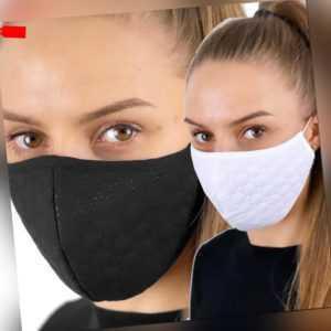 Gesichtsmaske Mund Maske Mundbedeckung waschbar 3-Lagig Baumwolle Behelfsmaske