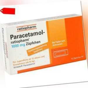 PARACETAMOL-ratiopharm 1.000 mg Zäpfchen 10 St 03953611