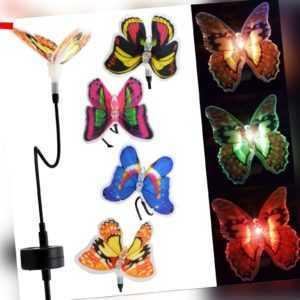 Solar Schmetterling LED Garten Leuchte Solarlampe farbwechsler Solarleuchten