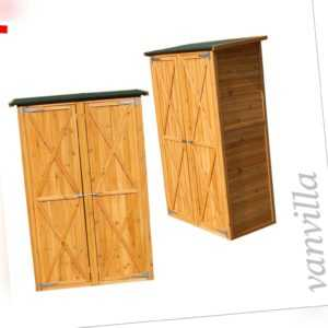 vanvilla Geräteschuppen Gross Geräteschrank Holz Schuppen Hell Gartenschrank