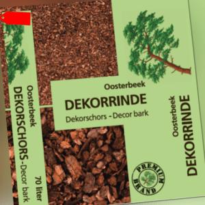 (0,22€/1l) Pinien-Dekorinde, fein, 70 l Sack Rinde Mulch Garten Pflege