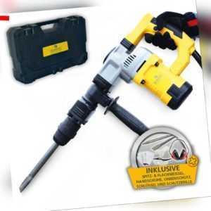 BAMATO Stemmhammer STH-150 mit 7-tlg. Zubehörset 27 Joule SDS MAX Abbruchhammer