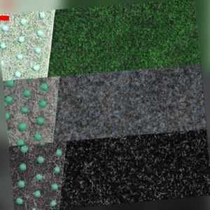 Kunstrasenteppich 3 Farbig mit Drainagenoppen, Guter Preis !