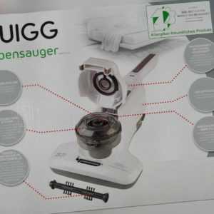 Quigg Akku-Milbensauger Staubsauger Allergikerfreundlich Hepa