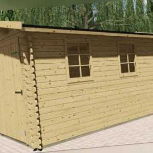Holzgarage 28mm Garage Holz mit Holztor 3.3x5.1M  Aurich EB28040