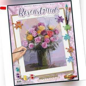 Rosenstrauß in Pastellfarben Schipper Malen nach Zahlen 40 x 50 cm Meisterklasse